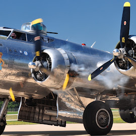Star Your Engine by Dennis McClintock - Transportation Airplanes ( warbird, airplane, bomber, aircraft, transportation,  )