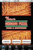 Screenshot of Victor's Chicago Pizza