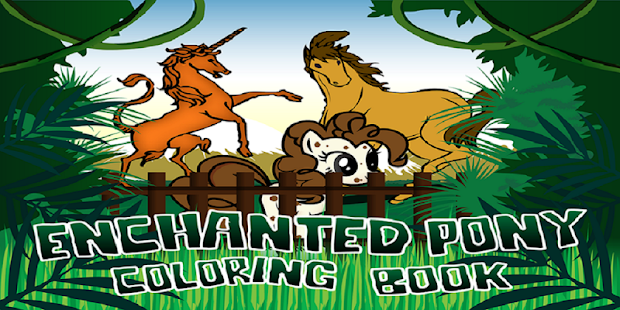 Download Enchanted Pony Colouring Book APK To PC