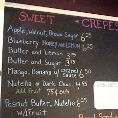 Sweet crepes can be made with gluten free batter