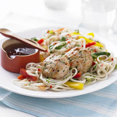 Thai Spiced Turkey Patties With Noodle Salad