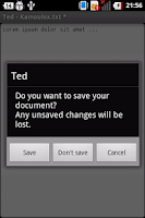 Screenshot of Ted (Text Editor)