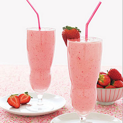 Fresh Strawberry Milk Shakes