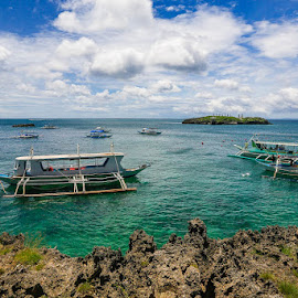 BLUE TIDE by Michael Rey - Landscapes Beaches ( beaches, boracay, fishing, diving, philippines )