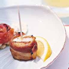Grilled Scallops Wrapped in Prosciutto