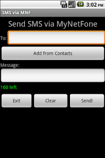 SMS via MNF - old - screenshot