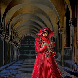 Lady in red by Dominic Jacob - News & Events World Events ( venezia, red, carnival, carnevale, venice, mask, venise, maschere,  )