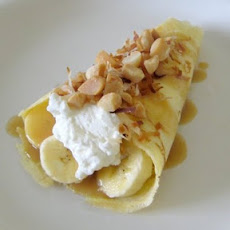 Banana Caramel Coconut Crepes