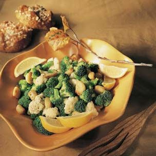 Cauliflower and Broccoli with Roasted Garlic Cloves