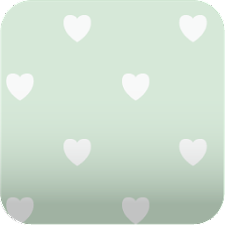 cute green hearts Wallpaper