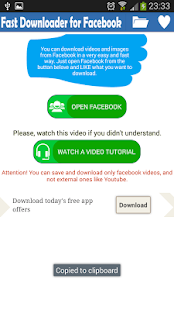 VideoPhoto Loader For Facebook - screenshot