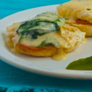 Eggs Benedict with Fresh Spinach and Hollandaise Sauce