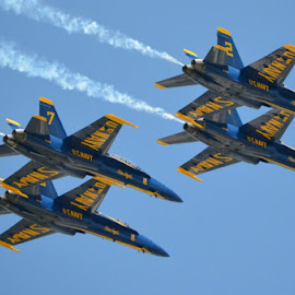 Angels In Flight by Noelle Alcorn - Transportation Airplanes ( florida, air show, blue angels )