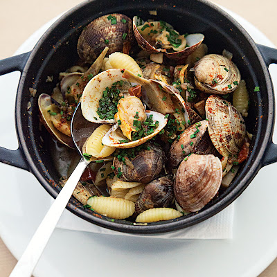 Pasta Shells with Artichoke-Clam Sauce