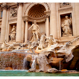 Trevi Fountain by Mari du Preez - City,  Street & Park  Fountains ( statue, rome, fountain, monument, historical, italy )