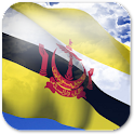3D Brunei Flag + icon