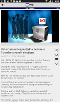 Screenshot of WIS News 10