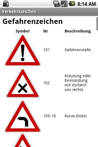 玩免費程式庫與試用程式APP|下載Verkehrszeichen (DE) app不用錢|硬是要APP