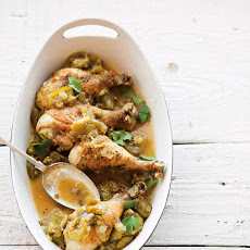 Braised Chicken with Tomatillos Recipe