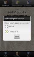 Screenshot of Kärnten Wörterbuch