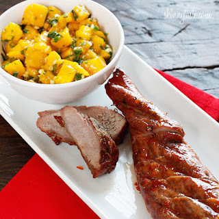 Sweet and Fiery Pork Tenderloin with Mango Salsa