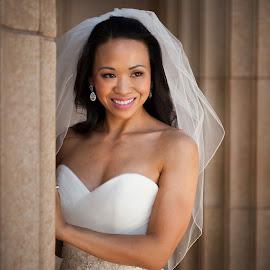 by Melissa Papaj - Wedding Bride ( =married, bridal, female, happy, woman, marriage, bride )