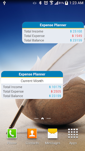 Expense Planner Budget Tracker - screenshot