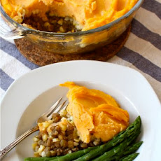 Lentil Shepherd's Pie with Sweet Potato Mash