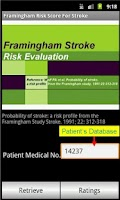 Screenshot of Framingham Stroke Risk Score