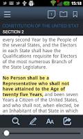 Screenshot of SmartLeges Law Reader