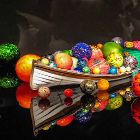 Floats and a Boat by Vonelle Swanson - Artistic Objects Glass ( chihuly, seattle, art, glass, wa, museum )