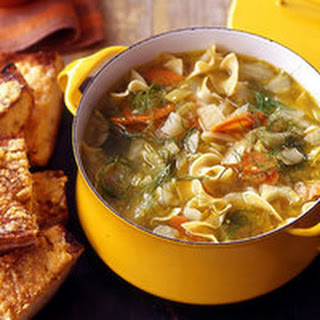 Vegetable Soup with Fennel and Pine-Nut Toasts