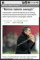 Screenshot of Andro Trabzonspor Haber