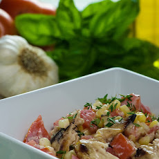Chicken Salad with Corn, Tomatoes and Goat Cheese Dressing