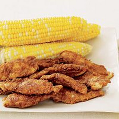 Tex-Mex Buttermilk Chicken Tenders and Corn on the Cob