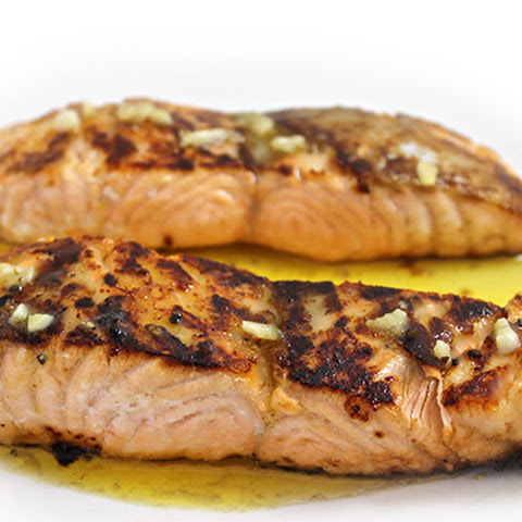 Honey Glazed Salmon with Lemon Butter Sauce