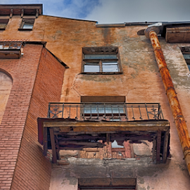 Holed balcony by Vlad Meytin - Buildings & Architecture Architectural Detail ( russia, vladsm, www.flickr.com/photos/vmwelt, vlad meytin, k.h. imporium co., pictures, st. petersburg, art pictures, balcony, meytin, photography, vladsm.com )