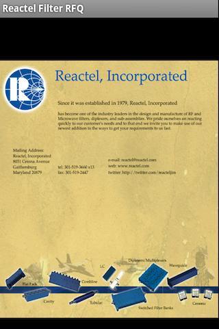 Reactel Filter RFQ