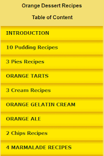 Orange Dessert Recipes - screenshot