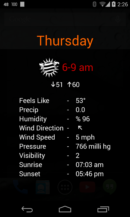 Weather Clock Screenshot 5