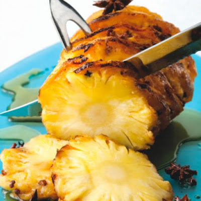 Clove-Studded Roasted Pineapple