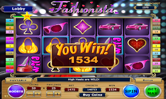 Screenshot of Fashionista Slots