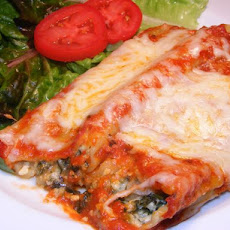 Spinach Cheese Manicotti