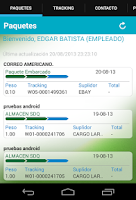 Screenshot of BMCargo Móvil