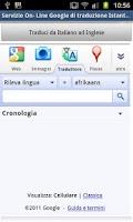 Screenshot of Traduttore - Translation