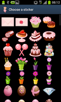 Screenshot of 100 pink stickers