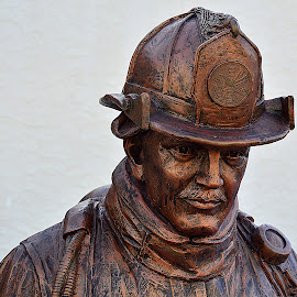 New Jersey Firefighter. by Andrew Piekut - Buildings & Architecture Statues & Monuments