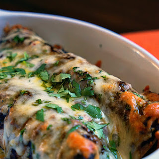 Pork Mole Negro Whole Wheat Enchiladas