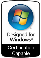 Microsoft Windows bezel: Designed for Windows- Certification capable (parody)