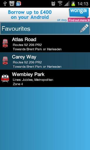 倫敦地鐵和公共汽車